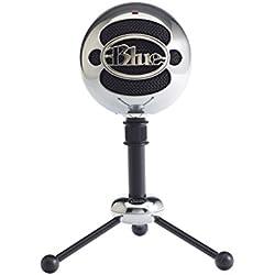 Blue Microphones Snowball - Micrófono para ordenador USB (omnidireccional y cardioide), color plateado