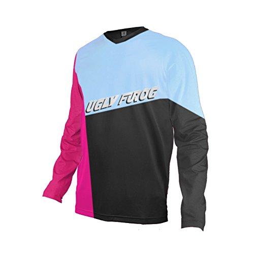 Uglyfrog Bike Wear Atmungsaktiv Trendy Herren Downhill/MTB Jersey Mountain Bike Shirt Fahrradtrikot Langarm Freeride BMX Fr¨¹hling Top