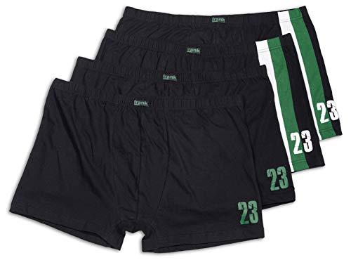 Frank Fields Herren Retro-Pants aus Baumwolle im sportlichen Design bis Größe 14/5XL 4er Pack, Farbe:grün, Größe:14