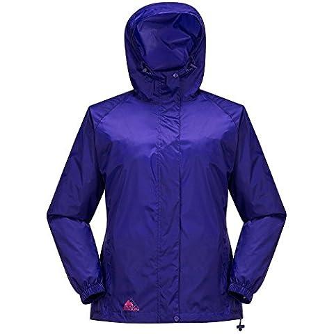 COX SWAIN Damen Regenjacke MALE - mit Kapuze, super leicht!, Farbe: Purple, Größe: L