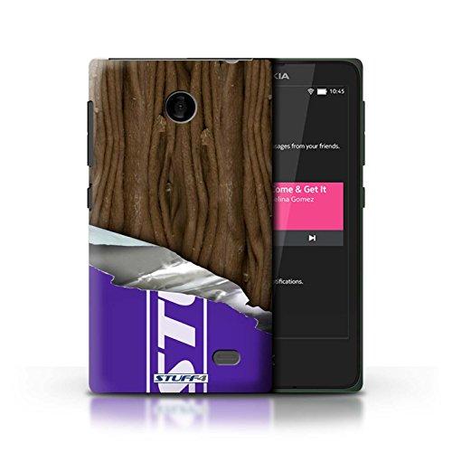 Kobalt® Imprimé Etui / Coque pour Nokia X / Flake/Flocon Enveloppé conception / Série Chocolat Flake/Flocon Enveloppé