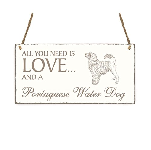SCHILD Dekoschild « All you need is LOVE and a PORTUGUESE WATER...