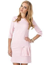 elomoda Elegantes Minikleid Kleid Tunika 3/4 Arm Gr. 36 38 40 42, M120
