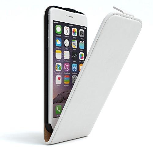 Apple iPhone 6 Plus / 6S Plus Hülle Flip Cover zum Aufklappen I von EAZY CASE I Handyhülle aufklappbar, Schutzhülle, Flipcover, Flipcase, Flipstyle Case vertikal klappbar, aus Kunstleder, - 6 Leder Iphone Case Vertikal