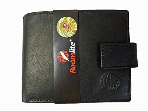 Portafoglio in vera pelle Uomo vendita Portamonete 6Carta Di Credito Slot Roamlite RL359AW, Black Tan NO GIFT BOX (nero) - RL359AW TAN NO BOX