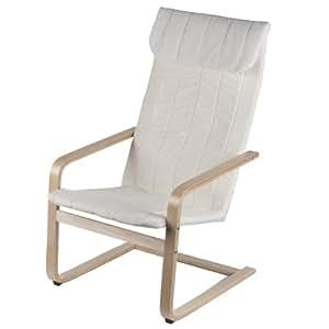 Sedia relax bianca giardino estate veranda for Arredo casa amazon