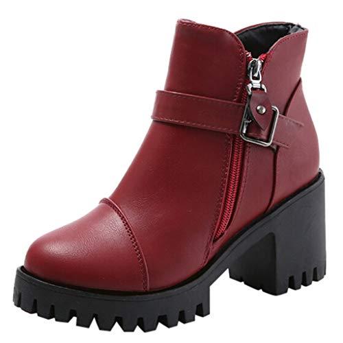 Invernali scarpa col tacco donna cerniera inverno tacco spesso autunno inverno stivali alto tacco stivaletti stivaletto nodo scarpe qinsling
