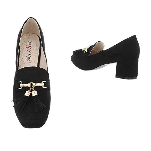 Ital-design Chaussures Fermées Pour Femmes Schwarz Z-21