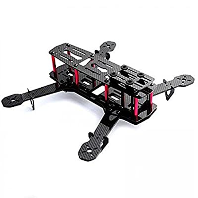 powerday®Repalcement QAV250 Carbon Quadcopter kit+Tarot MT2204? 2300KV Brushless motor+ Emax BLHeli 12A ESC+CC3D FC +6045 3-blade Props+Matek Power Hub Board