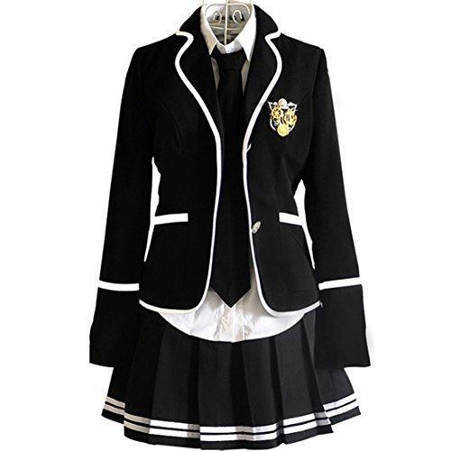 URSFUR Mädchen Japan Kostüm Langärmelige Anzug Cosplay Uniform -