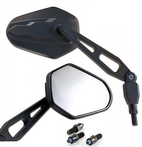 2 Motorrad Spiegel mit Prüfzeichen M8 Gewinde + 3 Spiegeladapter