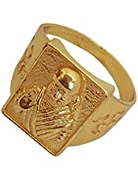 Menjewell New Classic Collection Gold Shirdi Sai Baba / Shiny Design Ring For Men