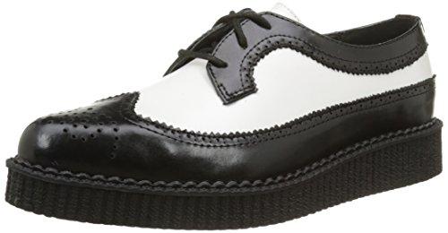T.u.k. A8643, Unisex-Erwachsene Schuhe Schwarz (Black/White)