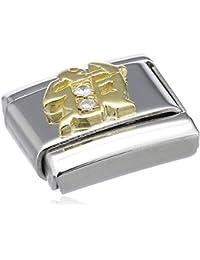 Nomination Comp. Classic STERNZ. Edelstahl, 18K-Gold und Diamanten (Schutze) 030402