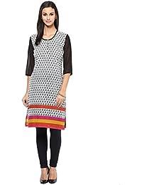 WOMEN KURTA: 100% Cotton Fully Printed Knee Legnth Kurta For Women