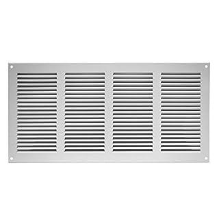 Lüftungsgitter Abschlussgitter Insektenschutz Abluft Zuluft Gitter 400x200mm, weiß, mr4020