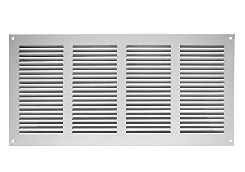Griglia di ventilazione griglia di scarico aria griglia 400X 200mm, Bianco, mr4020