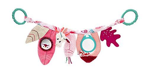 """Lilliputiens 83018 Aktivitätsspielzeug Babytrage / Kinderwagen Spielzeug für Babys, Design \""""Louise, das Einhorn\"""" - Maße: 46 x 15 x 2 cm, ab 0 Monaten"""