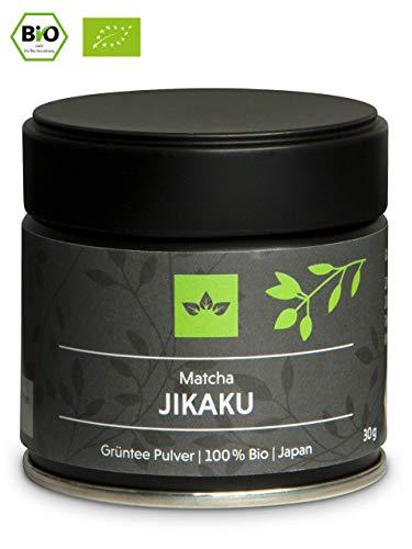 Bio Matcha Tee Jikaku Super Premium, Ceremonial Grade Matcha Pulver Organic aus Japan – 30g – vakuumierte Verpackung