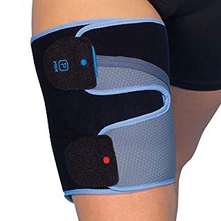 AirTex Oberschenkelbandage – Empfohlene Vierfachmuskelverspannungen, Oberschenkelverletzungen, Oberschenkelverspannungen oder zum Schutz beim Sport Universalgröße.