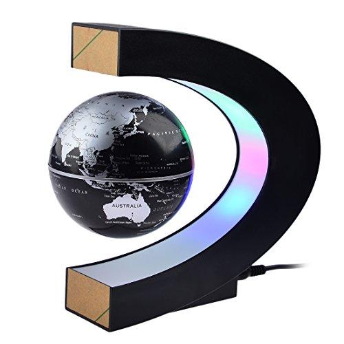 iTECHOR C-Form Magnetschwebetechnik Schwimmende Kugel Floating Globe World Karte Geschenk- Schwarz