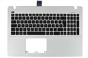 Clavier allemand (dE) topcase pour asus r510C serie blanc