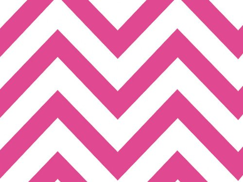 Hot Pink Chevron Wide Stripe12020 inch X30 inch Half Ream Recycled 120 pack