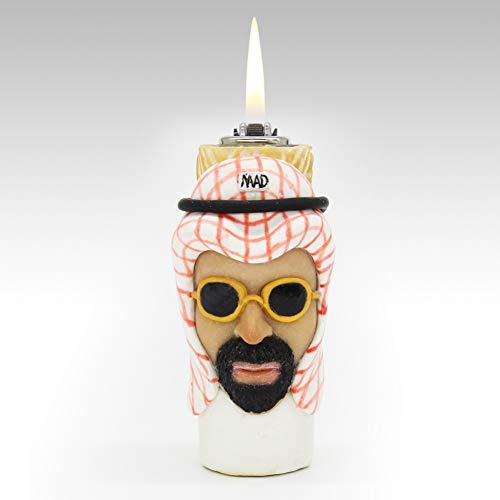 Araber Leichtere Kreativ Persönlichkeit Rad Feuerstein und stahl Porenbeton] Feuer maschine Freund senden Halloween Geschenk-A