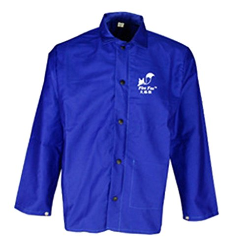 Fenteer Kurz Schweißerjacke M Blau (Feuerhemmende Kleidung)