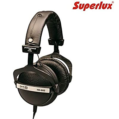 Superlux HD-660 Closed-back Studio Monitoring Headphones (Black)