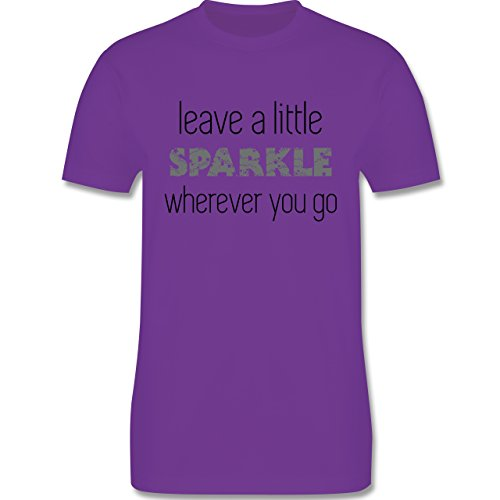 Statement Shirts - Leave a little sparkle wherever you go - Herren Premium T-Shirt Lila