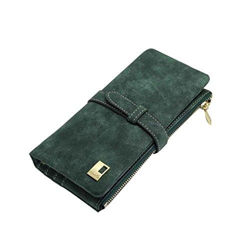 Zwei Fold Wallet (Miaomiao Zwei Fold Matte PU Leder Hasp Frauen Clutch Bag Wallets Münze Geldbörse Handtasche Geldbörse)