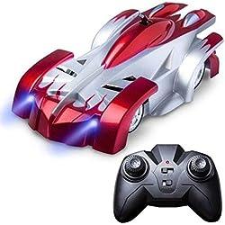 Alextry Gravity Defying RC Voiture télécommande Anti Gravité Car Racing Jouets pour Enfants Cadeaux Rouge
