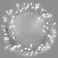 Luces de hadas de Navidad 100 LED Luminous Blanco luces de árbol de interior y al aire libre luces de cadena, luces de hadas 10m/32ft iluminado longitud con Cable transparente