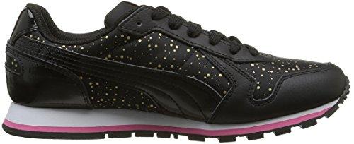 Puma St Runner Dots, Baskets Basses Femme Noir (Black/Black)