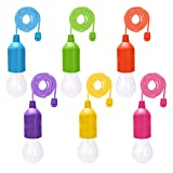 ATPWONZ 6 Stück LED Lampe Campinglampe 100cm Dekorative Lampe 40LM Camping Licht Warmweiß Glühbirnen für Wandern, Angeln, Camping, Zelt, Garten, BBQ, Batteriebetrieben (AAA)