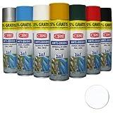 CRC–Spray Impermeabilizzante di Zinco Colorato, Due in Uno, Anti-Ossidante. RAL 9010: bianco, Confezione da 500ml