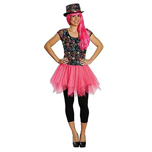 Rubie's Damen Kostüm Freaky Neon Kleid Karneval Fasching Party Gr.42