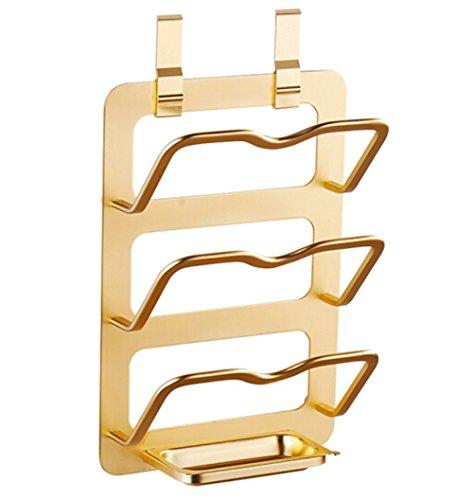 ballee Platz Aluminium Küche Racks, Küche Pfanne Deckel Rack gold (Aluminium-pfanne Rack)