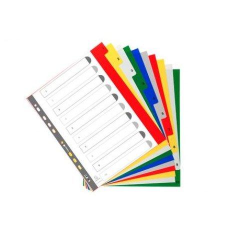 Exacompta A4extra breit 10Teil Bedruckte PP Index - Index 12 Teiler