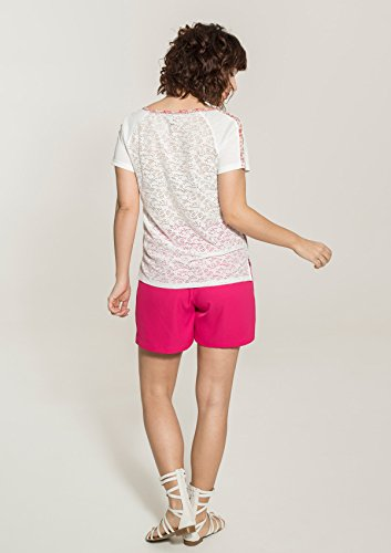 Smash! Fira, T-Shirt Donna Grigio/Bianco sporco