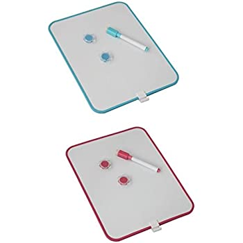 Megaprom 3 TLG B/üro Mini Magnetische Notiztafel Magnettafel Schreibtafel mit Marker Stift Abwischbar Set