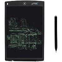 JTD Grafiktabletts schreibtafel LCD Grafik Tablette Elektronische Schreibblock Zeichnung Tablet Memo Nachricht Hinweis Board Notepad (12 Inch, Schwarz)