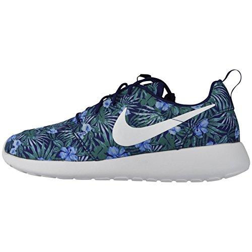 Nike Roshe One Print Premium blau mehrfarbig Herren Sneaker (Laufschuhe) mit Socken Mehrfarbig