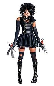 Rubie's Official Miss Edward Scissorhands + Wig Fancy Dress Ladies Halloween Womens Costume