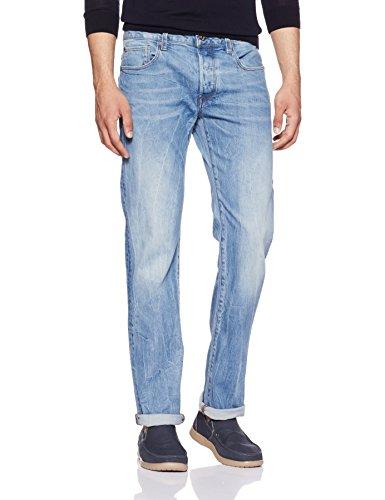 Five-pocket-jeans-stil Hose (G-STAR RAW Herren 3301 Straight Jeans, Blau (medium aged 7899-071), 30W/32L)