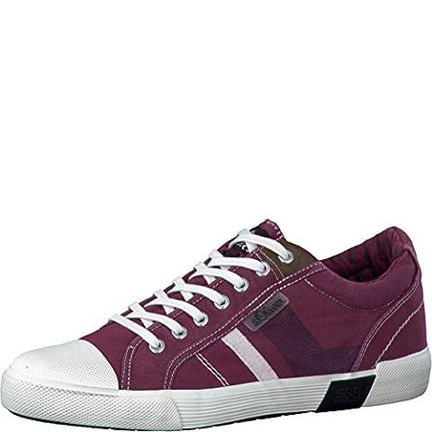 s.Oliver Herrenschuhe 5-5-13609-28 Modischer Herren Freizeitschuh, Sneaker, Textilschuh, Sommerschuh mit Schnürung rot (BORDEAUX), EU
