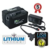 Powerhouse Golf 12 V 36 Loch + Golf Trolley LiFePO4 Lithium Akku INC USB-Stecker