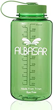 ALBASAR Tritan Wide Mouth BPA-Free Leakproff Water Bottle, Travel Mug,Gym-Sports Half Gallon Bottle, 32 OZ- 10