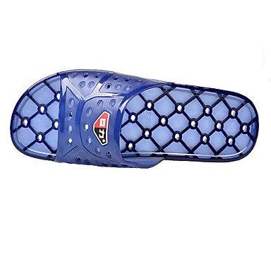 Mulheres Sandália Marinho De Grossas Botas Casual Sandálias De Pu Azul Calcanhar Inverno zqETP